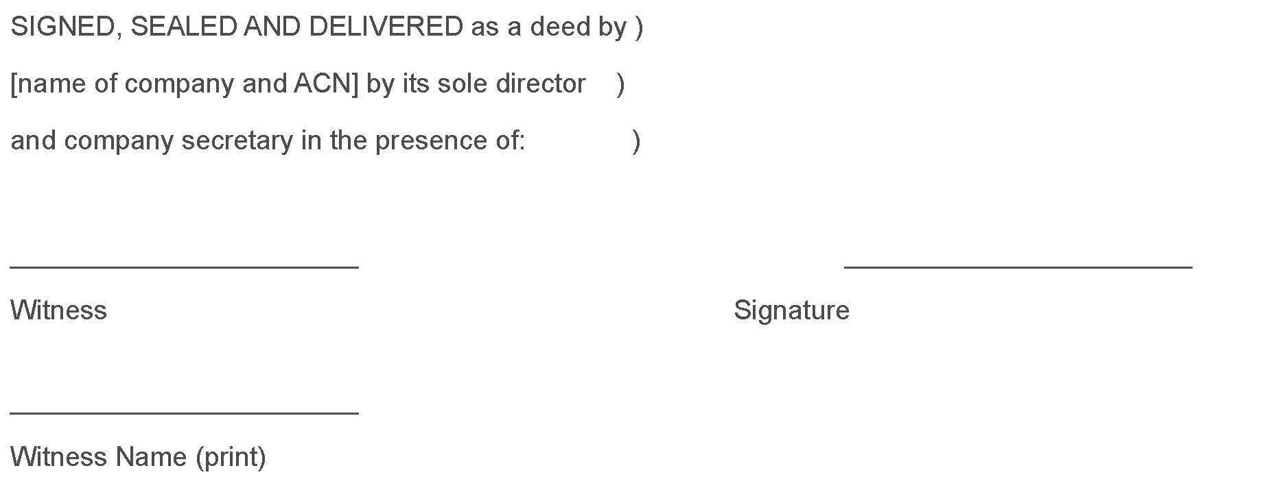 Fact Sheet  Signed Sealed And Delivered   Execution Of Deeds