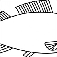 Fish Outline Clip Art   Totems   Pinterest