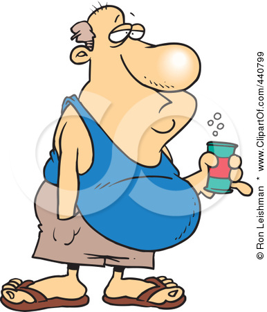 Free Rf Clip Art Illustration Of A Cartoon Man With A Beer Belly