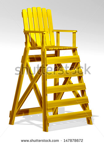 Golden Life Chair Or Raised Chair   Stock Photo