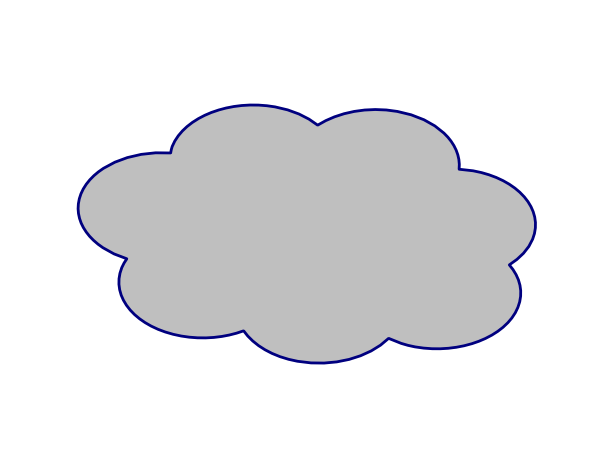 Grey Cloud Clip Art At Clker Com   Vector Clip Art Online Royalty