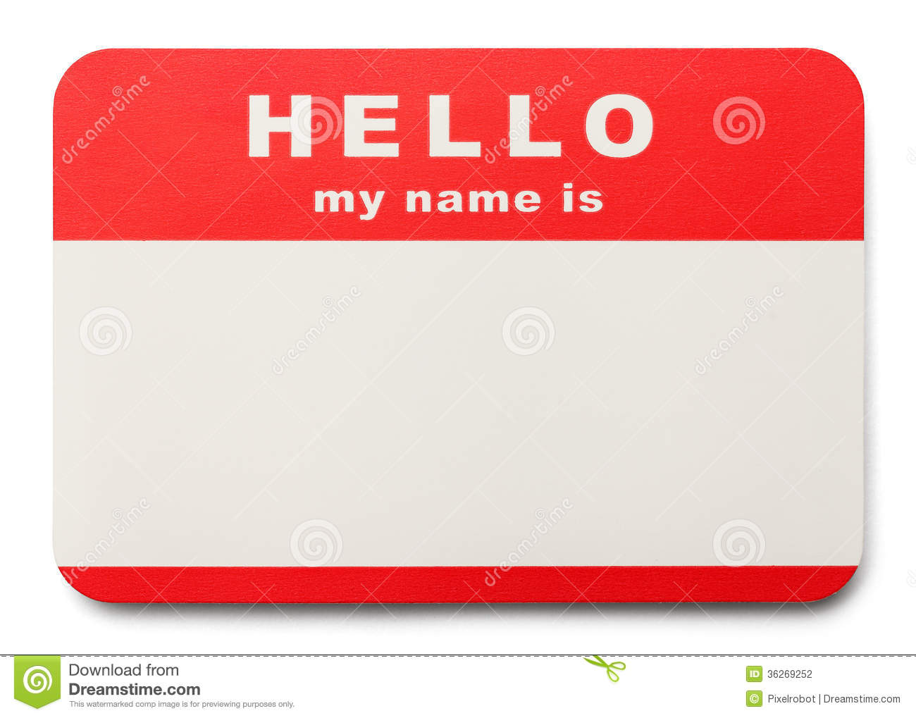 Hello My Name Is Clip Art Red Hello My Name Is Tag With