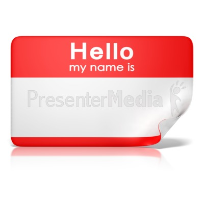 Hello My Name Is Tag Front   Education And School   Great Clipart For
