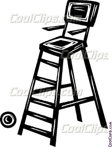 Lifeguard Chair Vector Clip Art