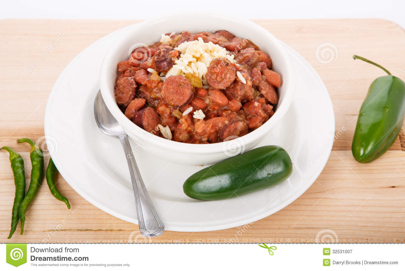 Red Beans And Rice With Peppers Royalty Free Stock Photography   Image