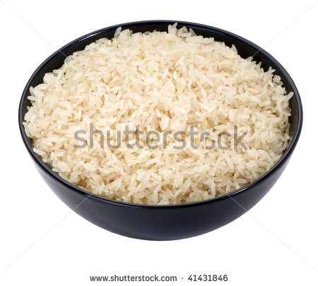Rice Clip Art Black And White Boiled Long Grain Rice In