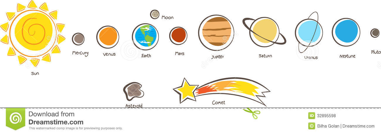 Clip Art Solar System Clipart solar system clipart kid planets royalty free stock photos image 32895598