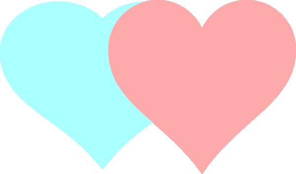 clip art double hearts free - photo #48