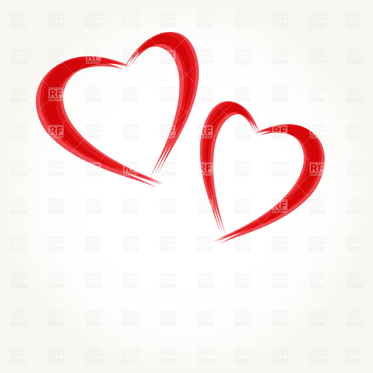 Two Hearts Clipart - Clipart Kid