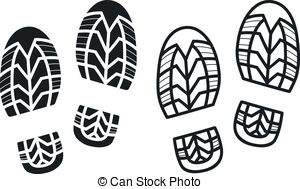Vector Work Boots Print   Work Boots Print Black And White