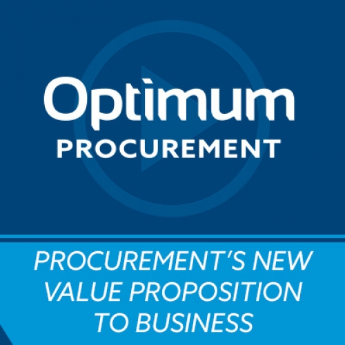 Video   Procurement S New Value Proposition To The Business
