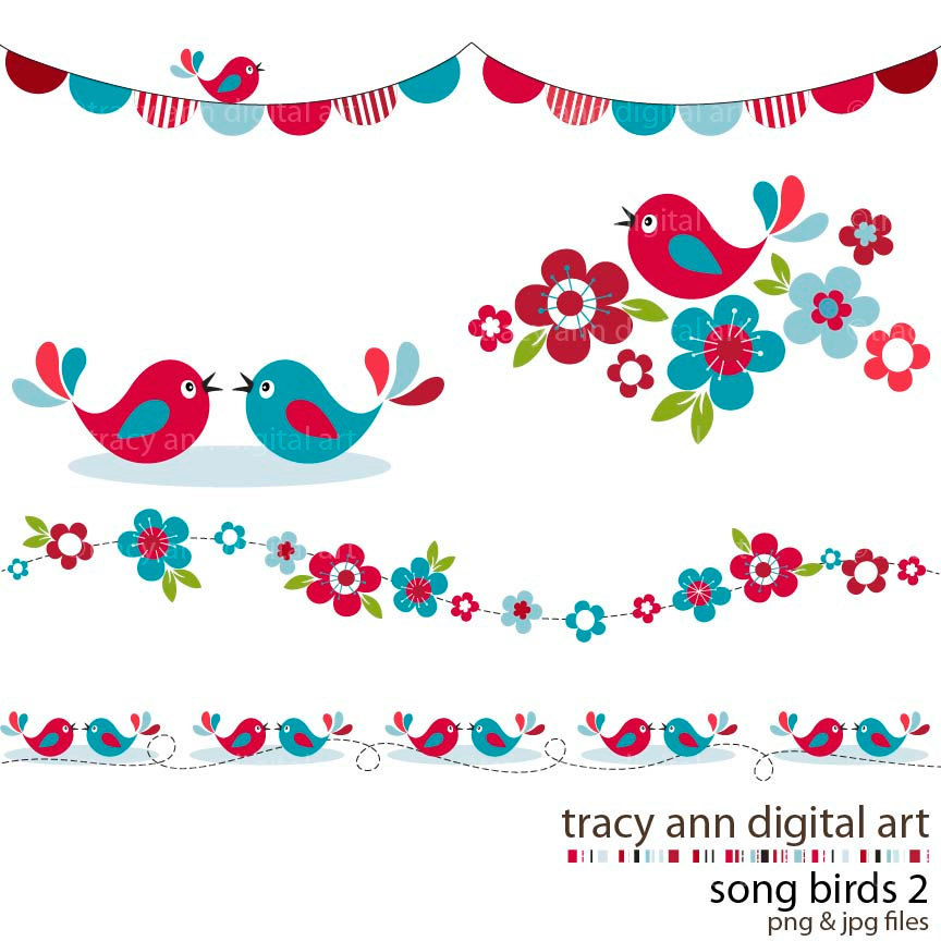 301 Moved Permanently: Bird Border Clipart