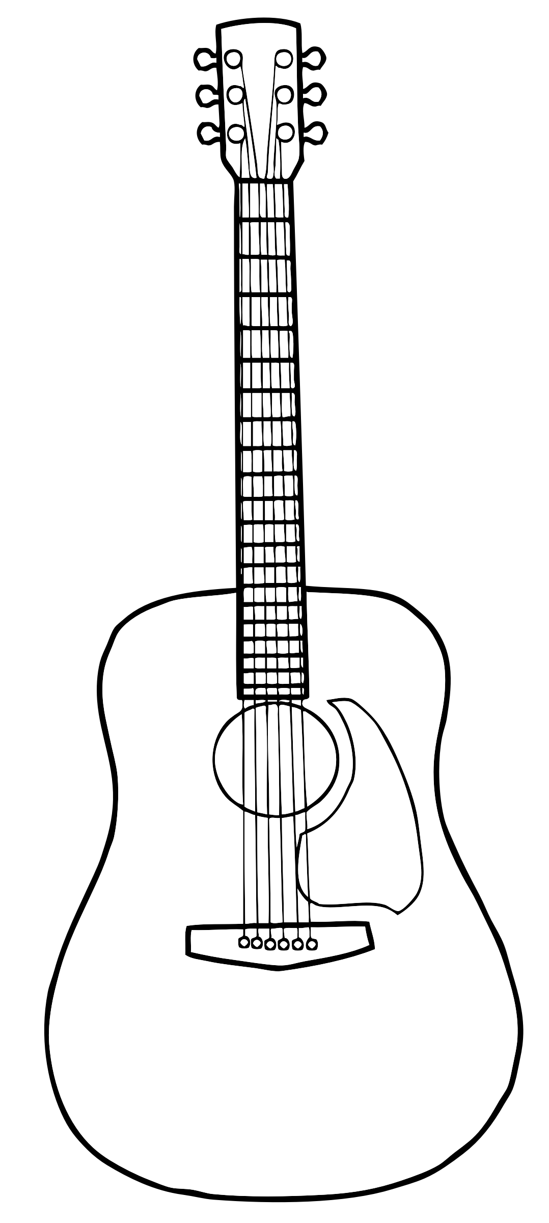 guitar outline clipart