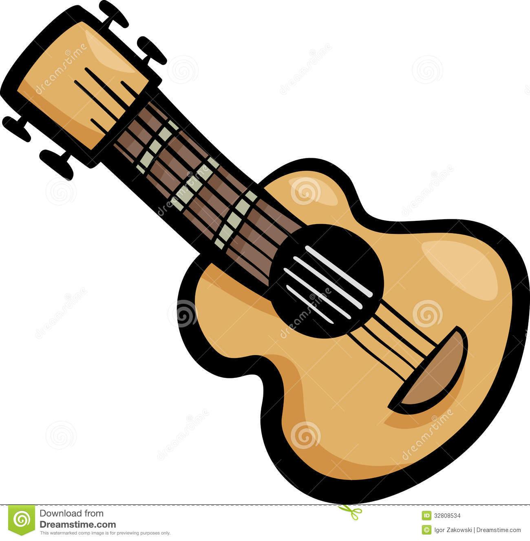 Cartoon Guitar Clipart - Clipart Kid