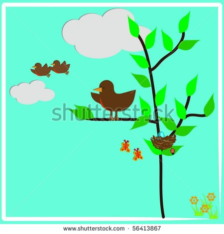 Baby Bird Nest Clip Art Baby Birds Leaving The Nest