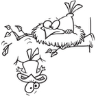 Clip Art Image Gallery   Similar Image  Cartoon Bird Leaving The