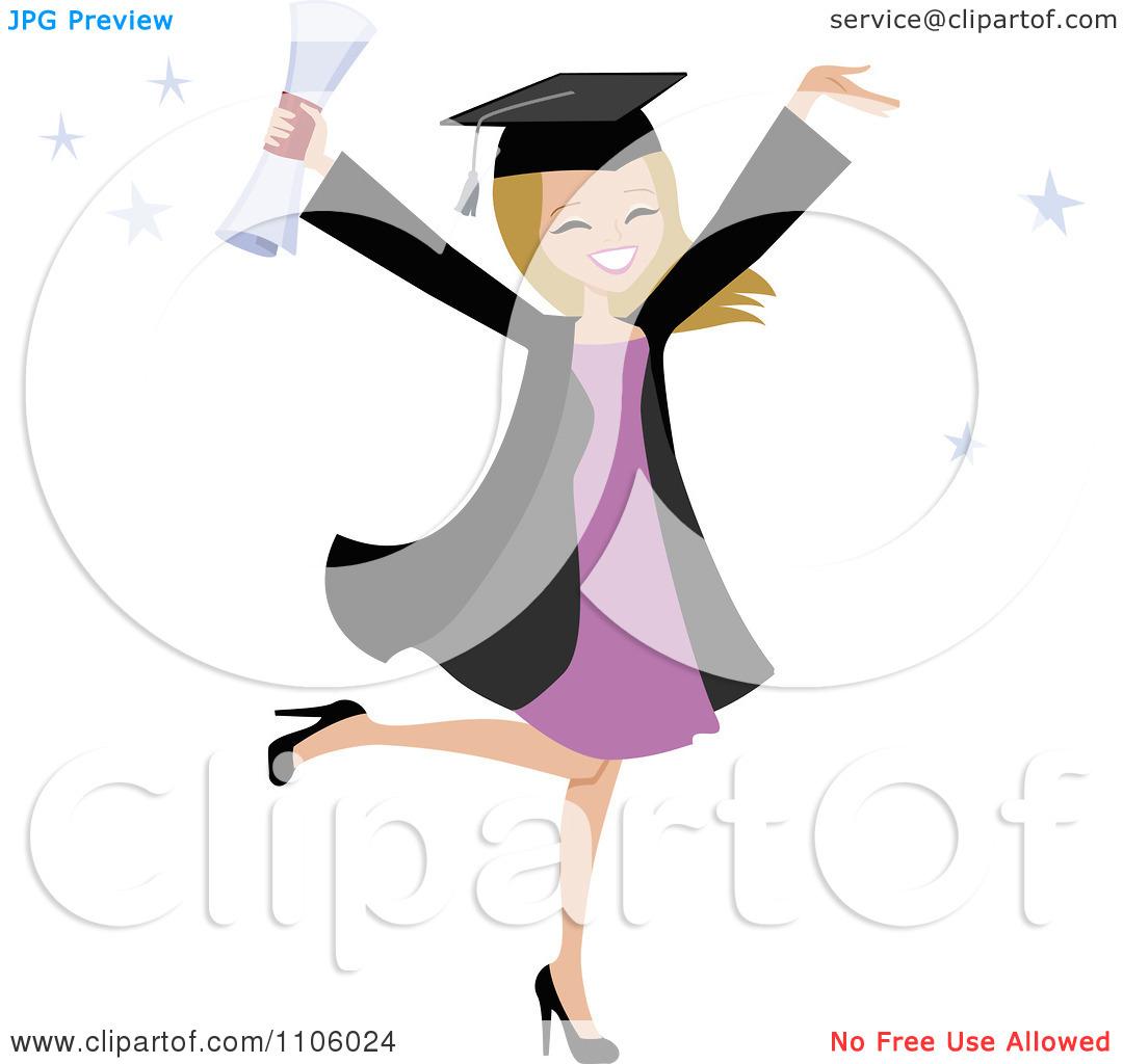 Female College Student Clipart Clipart Happy Blond College Graduate