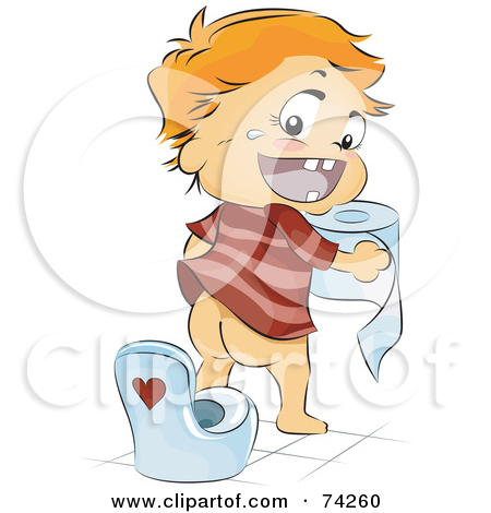 On A Potty Training Toilet   Royalty Free Vector Clipart By Yayayoyo