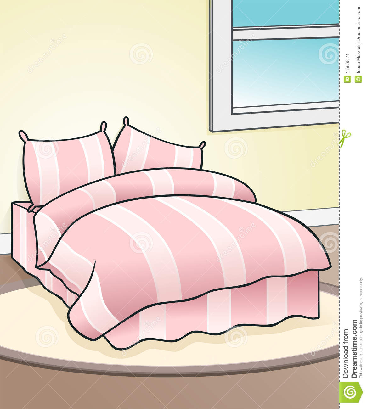 Pink Bed Background