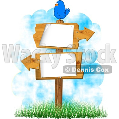 Sign With Arrows Pointing In Opposite Directions Clipart   Dennis Cox
