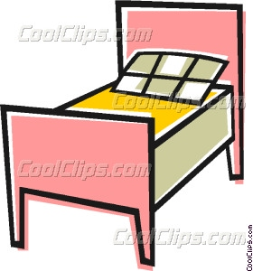 Single Bed Vector Clip Art