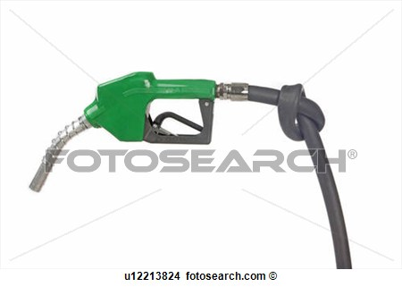 Stock Photo   Gas Pump With Knot In Hose  Fotosearch   Search Stock