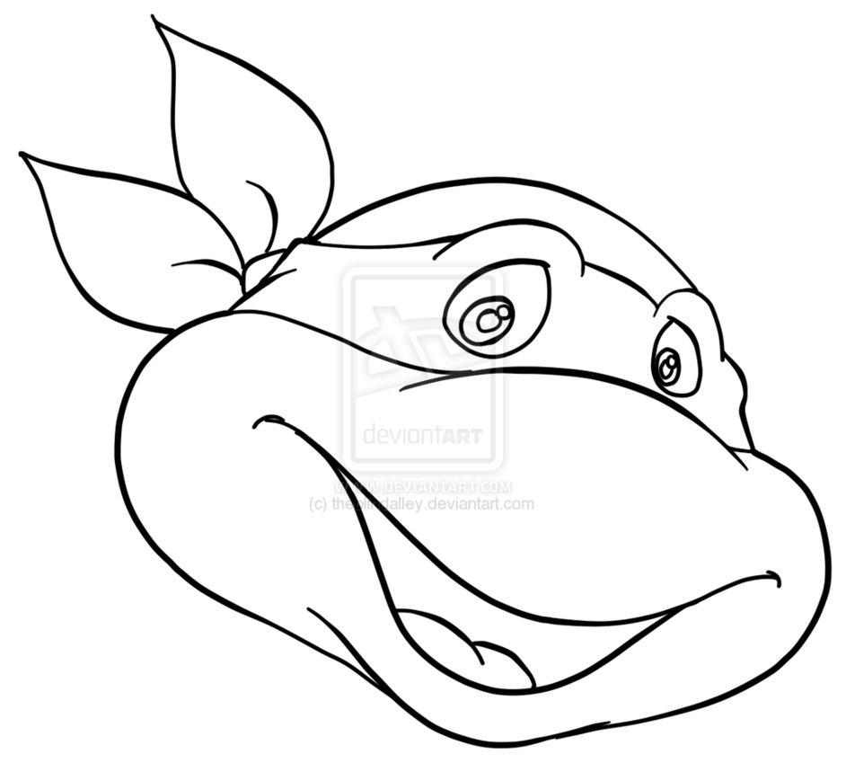 teenage mutant ninja turtles faces coloring pages tmnt outline clipart clipart suggest