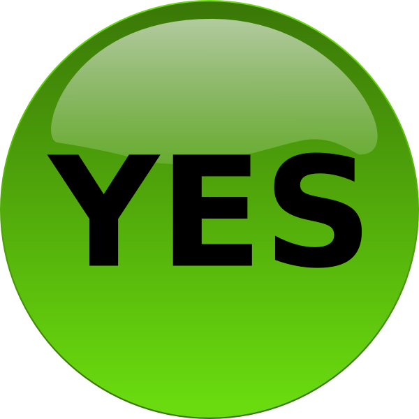 yes symbol clip art - photo #20