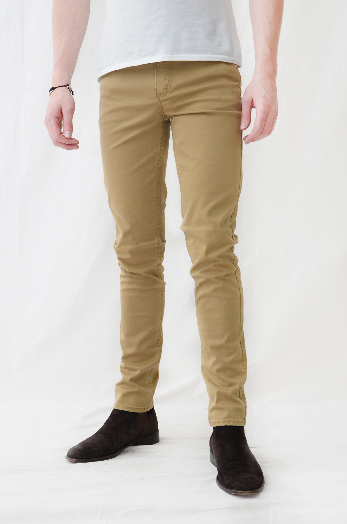 Mens khaki skinny jeans - results from brands Levi's, Dockers, blu, products like Alta Premium Designer Fashion Mens Slim Fit Skinny Denim Jeans - Multiple Styles, Dockers R) Relaxed Comfort Pleated Pants - Black 36x32, Black, Dockers R) Relaxed Fit Comfort Pants - Black 32x30, Black, Men's Pants.