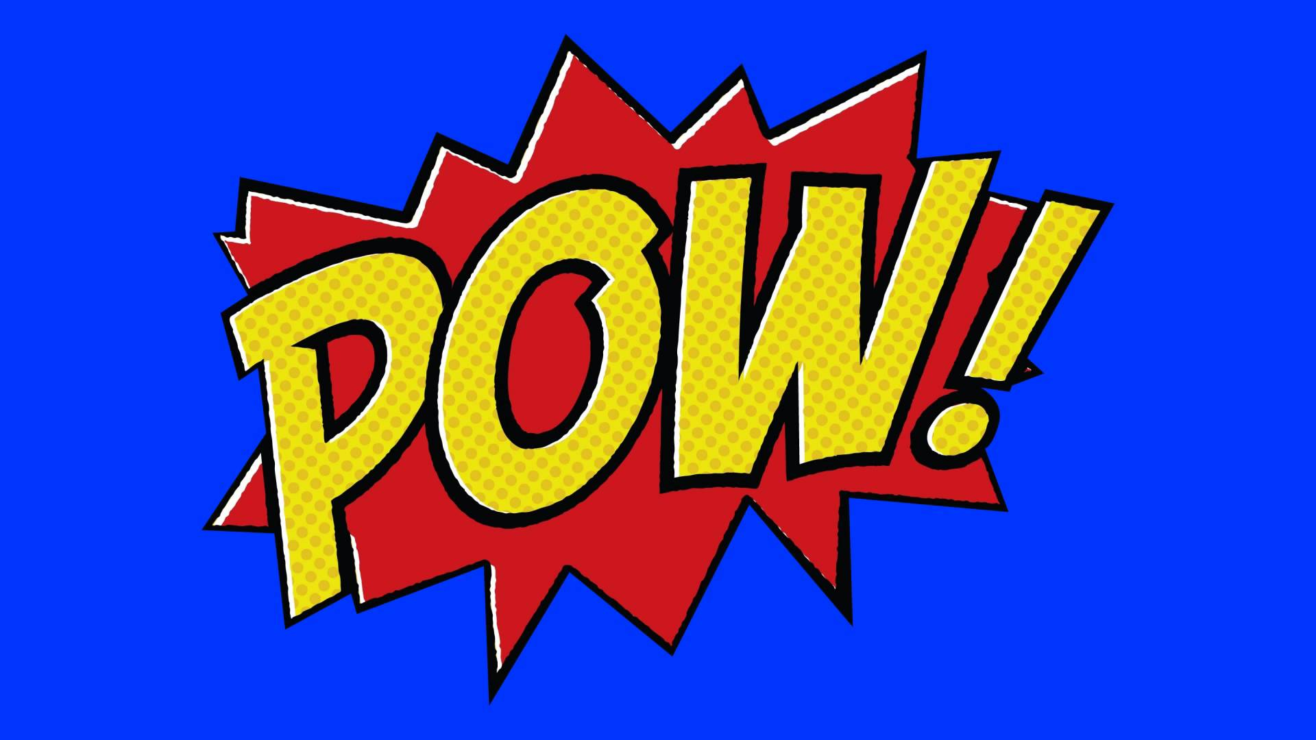 Batman Comic Book Pow Clipart