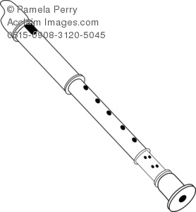 Flute Black And White Clipart - Clipart Suggest