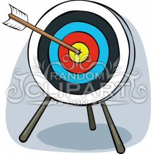 Cartoon Archery Target Clip Art