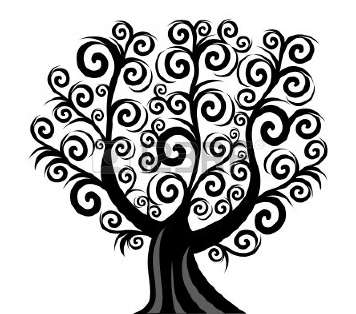 Pine Tree Black And White Clipart Clipart Suggest