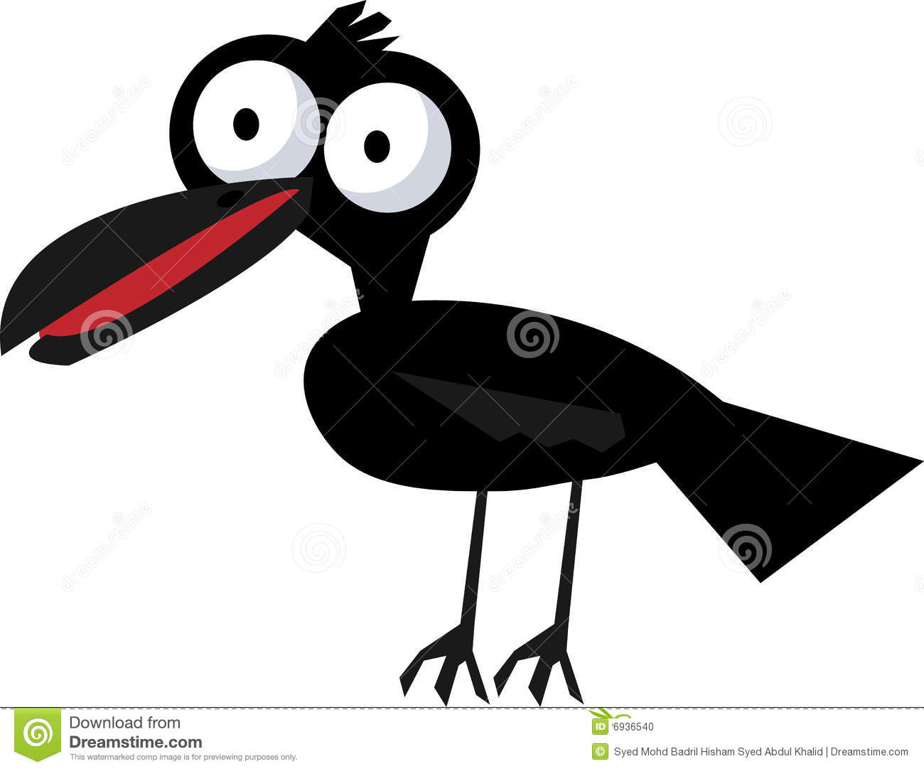 Crow   Vector Clipart Stock Photo   Image  6936540