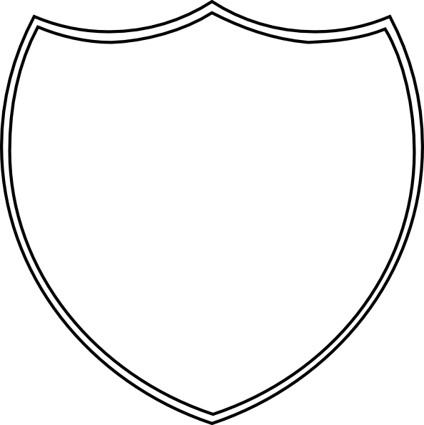Double Shield Outline Clip Art At Clker Com   Vector Clip Art Online