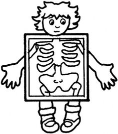 Free Medical Cartoon Clip Art Of Xrays   Ray Exam Coloring Page More