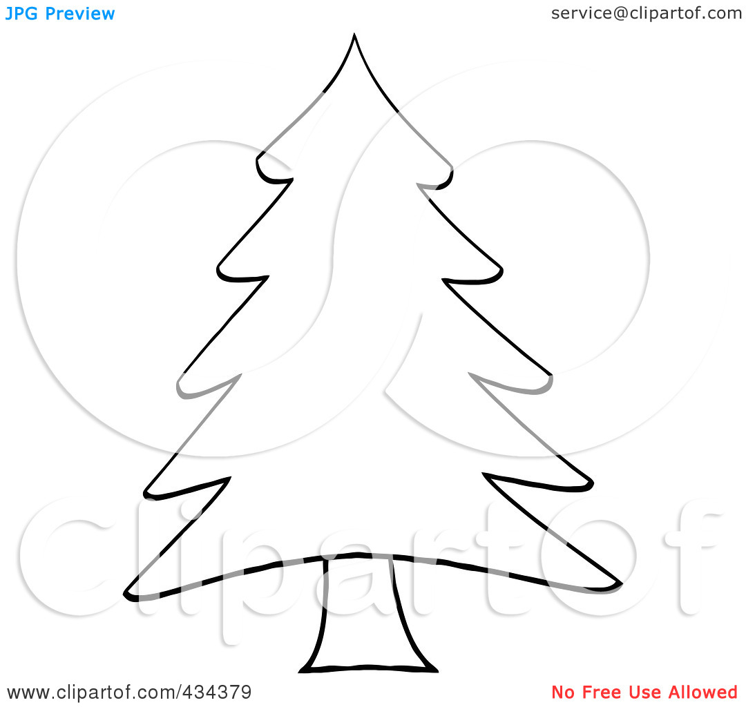 Pine Tree Black And White Clipart - Clipart Kid