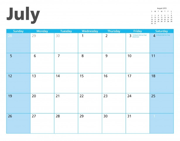 Clip Art Calendar July : Calendar page clipart suggest