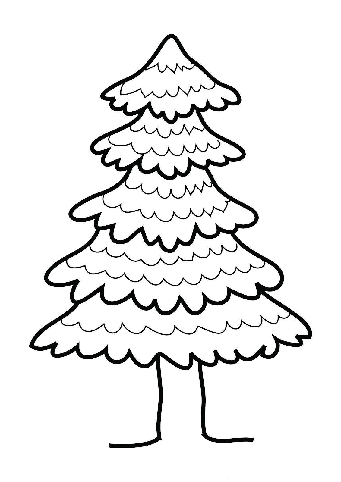 Pine Tree Clip Art Black And White