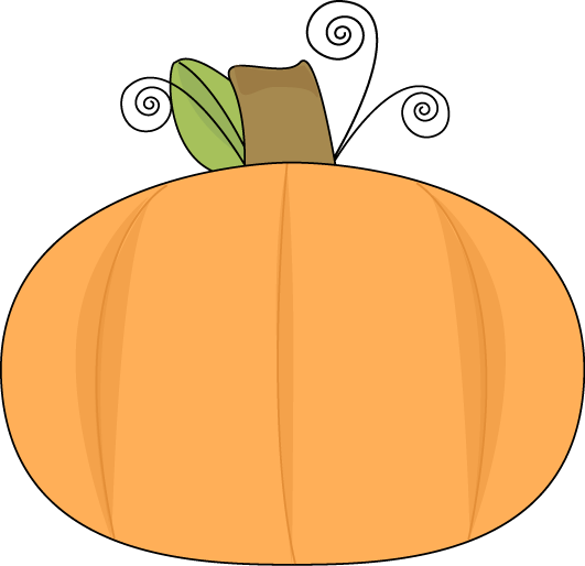 Pumpkin On A Swirly Vine Clip Art Image   Round Pumpkin On A Swirly