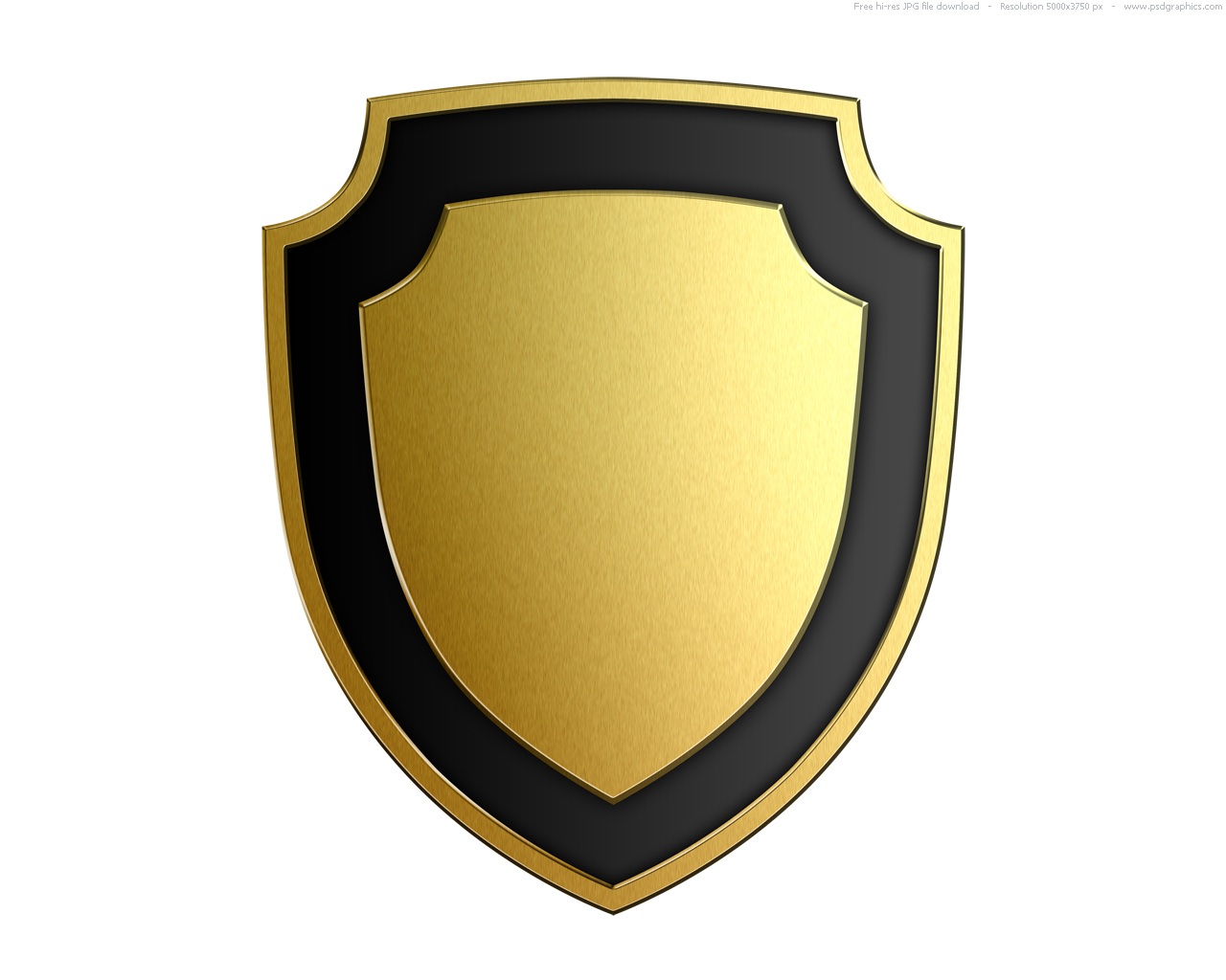 Shiny Gold Shield   Free Images At Clker Com   Vector Clip Art Online