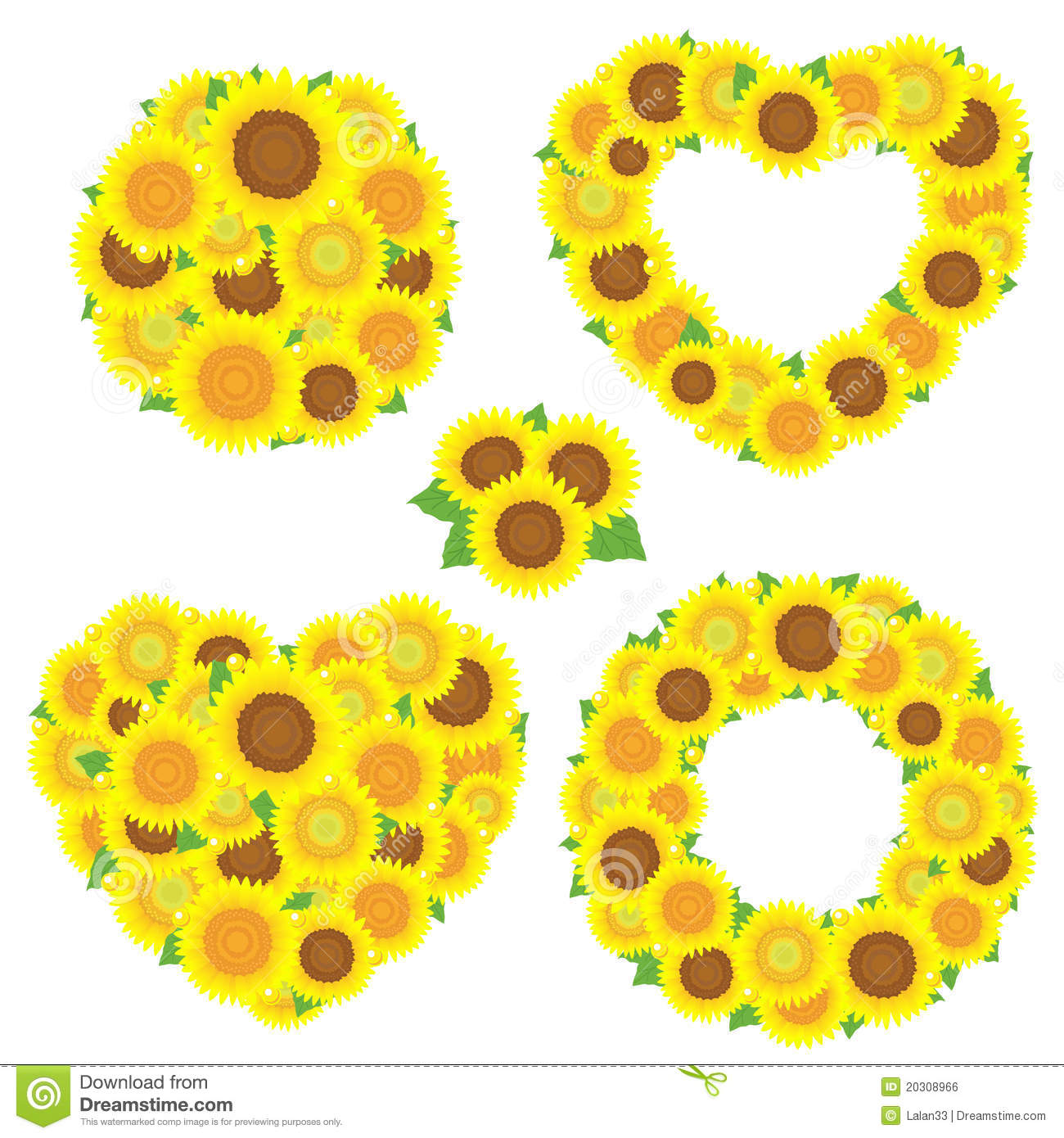 Sunflower Bouquet Royalty Free Stock Image   Image  20308966