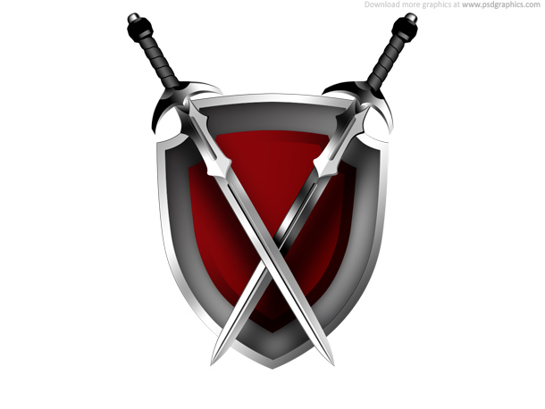 Swords And Shield Icon   Psdgraphics