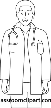 165 X 350   30 Kb   Jpeg Doctor Clip Art Black And White