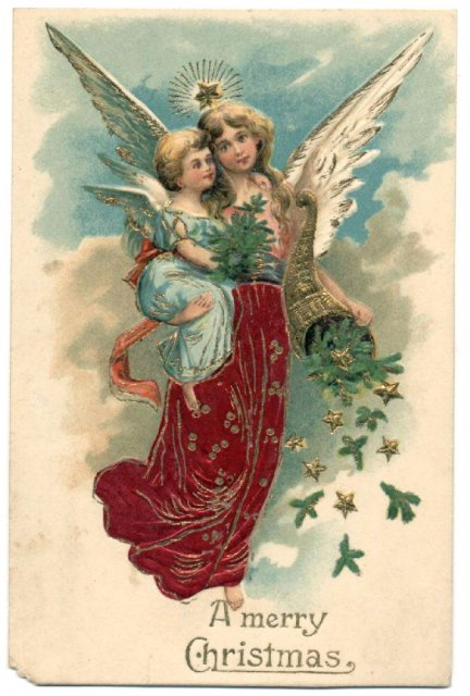 Angels   Angels   Vintages Cards   Christmas Wallpapers Free Clipart