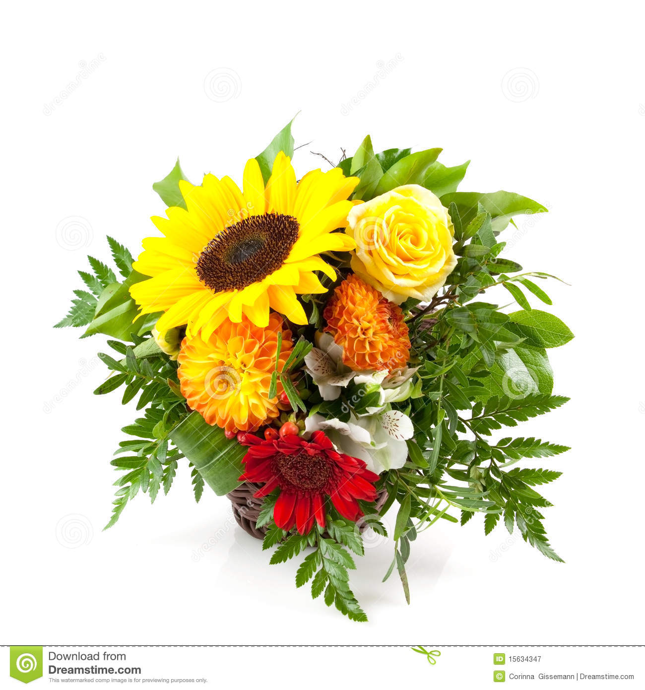 Bouquet With Sunflower Royalty Free Stock Photography   Image