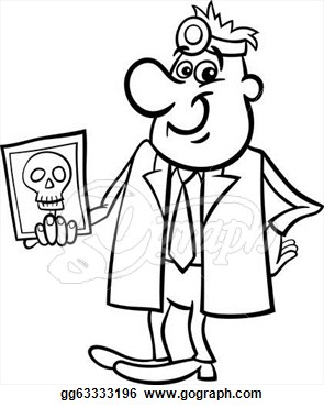 Doctor Clipart Black And White Doctor With Xray Black And White