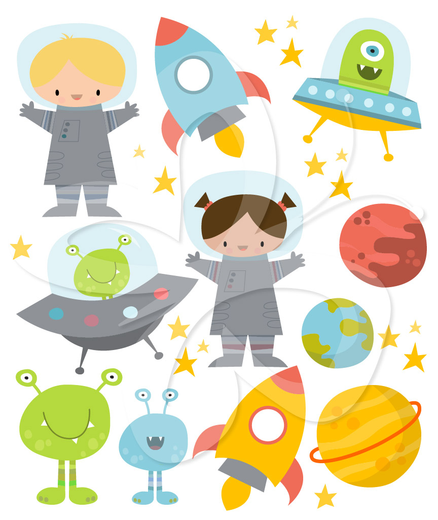Home   All Clip Art   Space Clipart Set   Aliens Planets And
