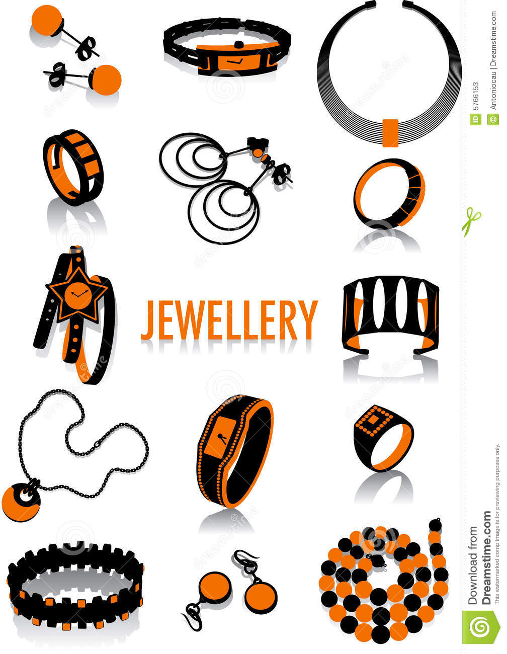 Jewellery Silhouette Stock Photos   Image  5766153