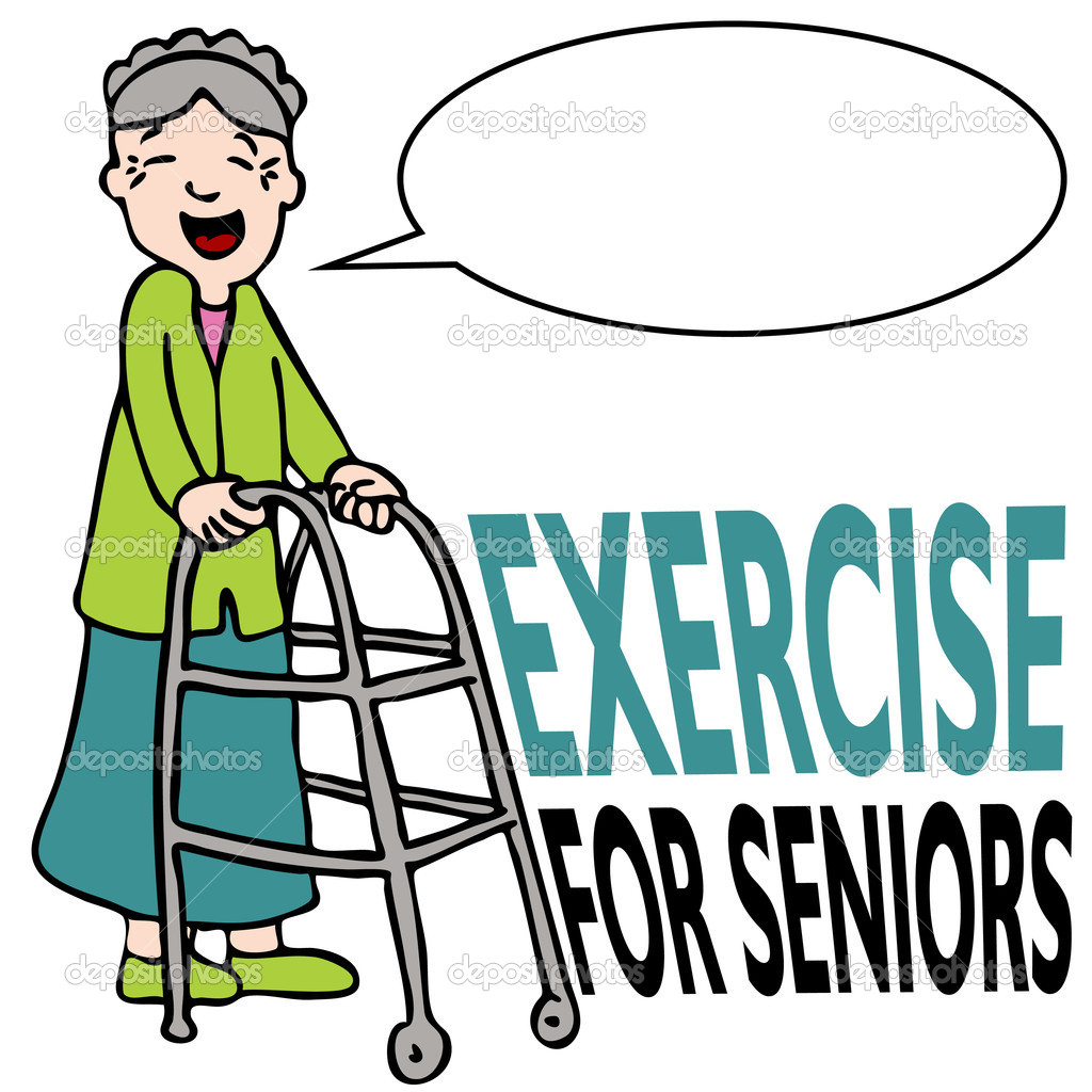 Senior Exercise Clipart - Clipart Kid